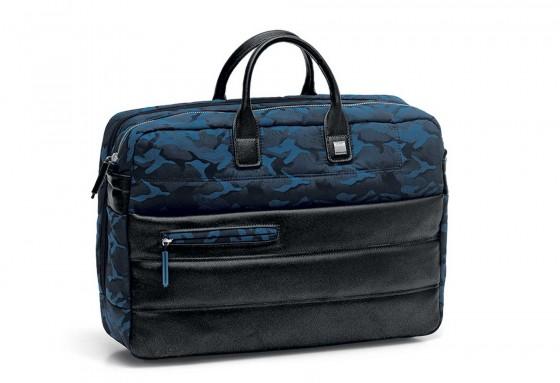 Roncato Boston Torba na laptopa czarno niebieska