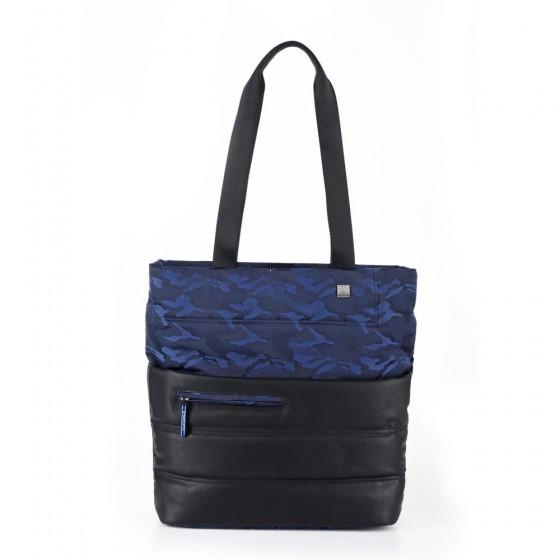 Roncato Boston Torebka damska shopper czarno niebieska