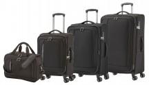 Travelite CrossLITE Komplet 3 walizek i torba podręczna czarny