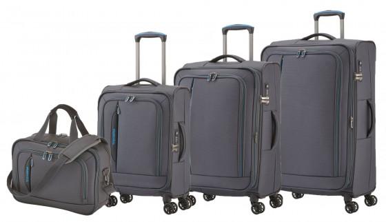 Travelite CrossLITE Komplet 3 walizek i torba podręczna antracytowy