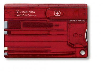 Victorinox SwissCard model Quattro czerwony