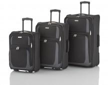 Travelite Rocco Komplet 3 walizek czarnych