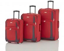 Travelite Rocco Komplet 3 walizek czerwonych