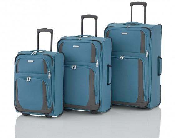 Travelite Rocco Komplet 3 walizek niebieskich