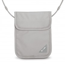 Pacsafe Coversafe X75 Sekretny portfel na szyję szary