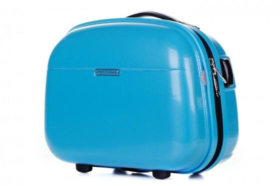 Puccini PC005 Kuferek podróżny, kosmetyczka błękitny