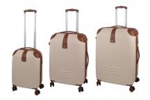 Dielle 155 Komplet 3 walizek kremowy