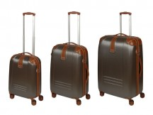Dielle 155 Komplet 3 walizek brązowy