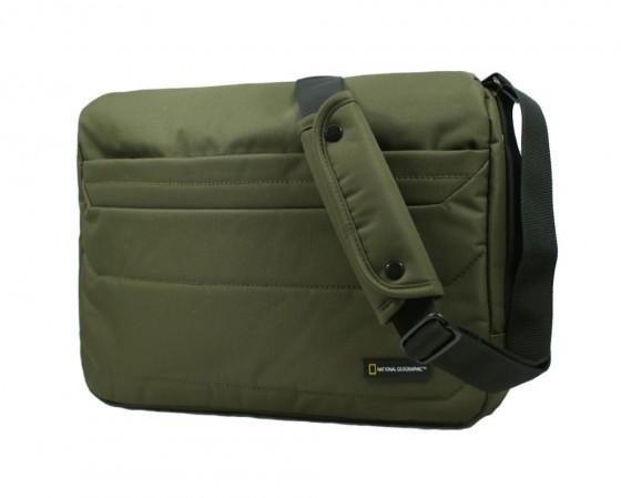 Duża torba na ramię z kieszenią na tablet, marki National Geographic z serii Pro - kolor khaki
