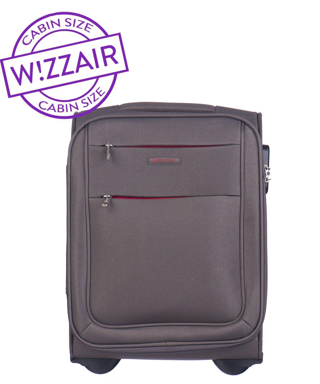 3ce83528cfca8 Walizka mała miękka (wymiar kabinowy WizzAir) marki Puccini z kolekcji  Camerino - kolor szary ...