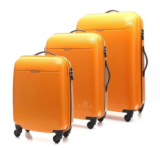 Puccini PC005 Walizka komplet 3 walizek pomarańczowy