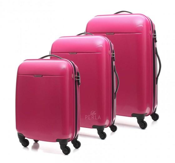 Puccini PC005 Walizka komplet 3 walizek różowy