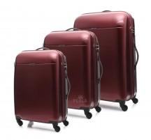 Puccini PC005 Walizka komplet 3 walizek bordowy