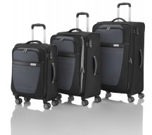 Travelite Meteor Komplet 3 walizek czarnych