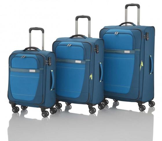 Travelite Meteor Komplet 3 walizek niebieskich