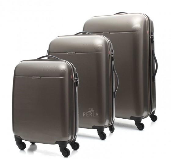 Puccini PC005 Walizka komplet 3 walizek złoty