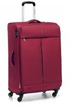 Walizka duża miękka, 4 kółka, 113 litrów, poszerzana, zamek szyfrowy TSA, Nylon, marki Roncato kolekcja Ironik - kolor czerwony
