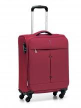 Walizka mała kabinówka miękka, 4 kółka, 46 litrów, poszerzana, zamek szyfrowy TSA, Nylon, marki Roncato kolekcja Ironik - kolor czerwony