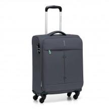 Walizka mała kabinówka miękka, 4 kółka, 46 litrów, poszerzana, zamek szyfrowy TSA, Nylon, marki Roncato kolekcja Ironik - kolor antracyt