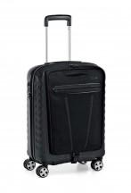 Roncato Double Walizka mała z torbą na laptopa czarna