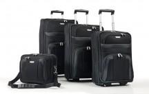 Travelite Orlando Komplet 3 walizek i torba podręczna czarny