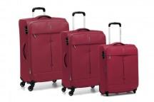 Roncato Ironik Komplet 3 walizek antracytowych czerwonych