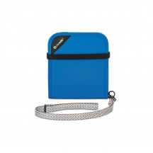 Pacsafe RFIDsafe V100 Portfel męski błękitny