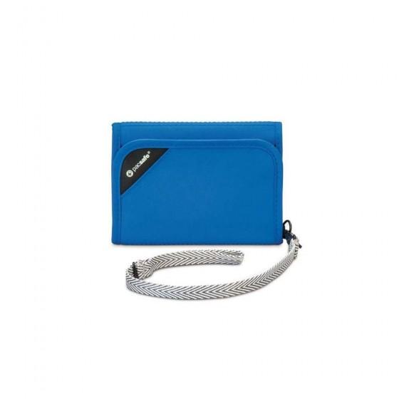 Pacsafe RFIDsafe V125 Portfel męski błękitny
