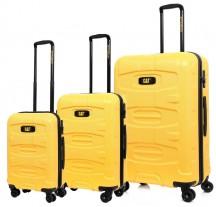 Caterpillar Tank Komplet 3 walizek żółtych