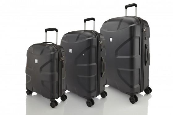 Titan X2 Shark Skin Komplet 3 walizek czarnych