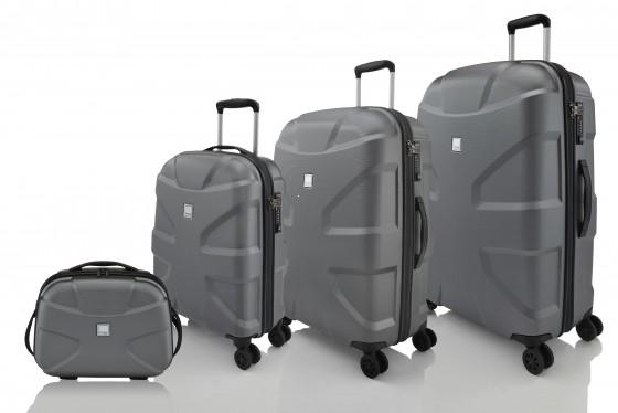 Titan X2 Shark Skin Komplet 3 walizek + Kuferek podróżny antracytowy