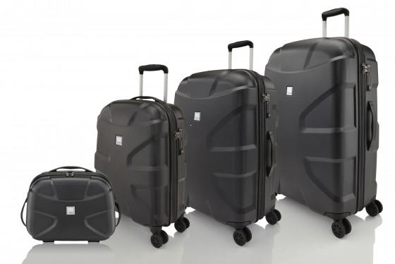 Titan X2 Shark Skin Komplet 3 walizek + Kuferek podróżny czarny