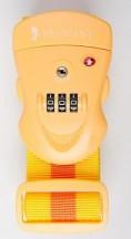 Puccini Pas do bagażu szyfrowy TSA żółty