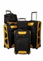 Vip Collection Monte Carlo Komplet 3 walizek, kuferek podróżny i kosmetyczka czarnych