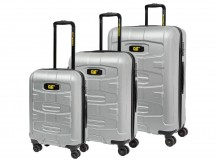 Caterpillar Tank Komplet 3 walizek srebrnych