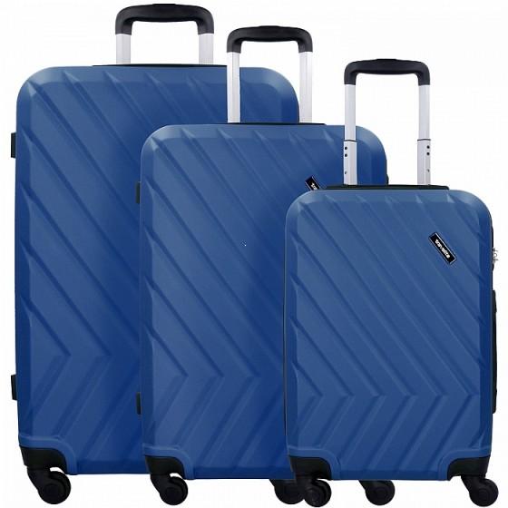 Travelite Quick Komplet 3 walizek niebieskich
