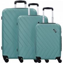 Travelite Quick Komplet 3 walizek zielonych
