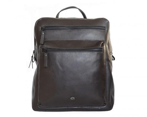 Plecak skórzany z miejscem na laptopa marki Daag z kolekcji Storm - kolor brązowy