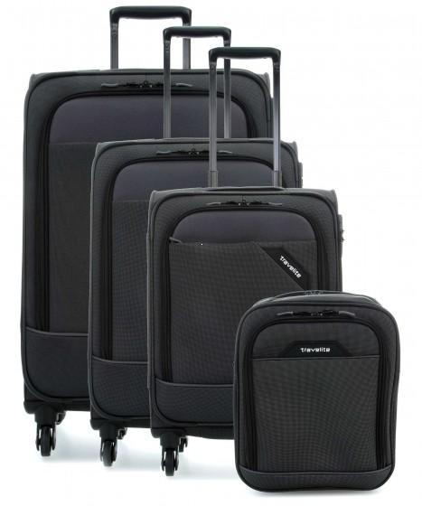 Travelite Derby Komplet 3 walizek i torba podręczna antracytowy