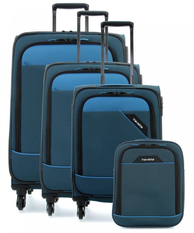 a1bd38906e6b7 Komplet 3 walizek poszerzanych + torba podróżna Travelite z kolekcji ...