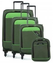 Travelite Derby Komplet 3 walizek i torba podręczna zielony