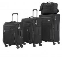 Travelite Capri Komplet 3 walizek i torba podręczna czarny
