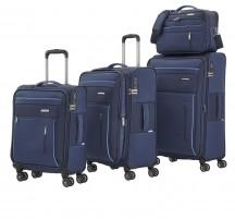 Travelite Capri Komplet 3 walizek i torba podręczna granatowy