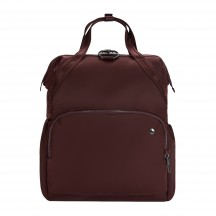 Pacsafe Citysafe CX backpack Torebka - Plecak damski bordowy
