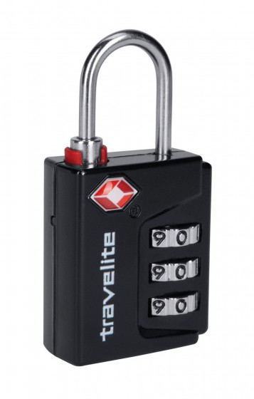 Travelite Accessories Kłódka na zamek szyfr TSA czarna