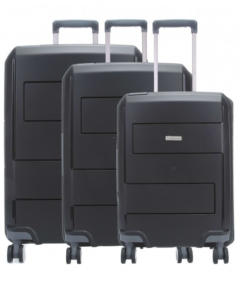 Travelite Makro Komplet 3 walizek czarnych