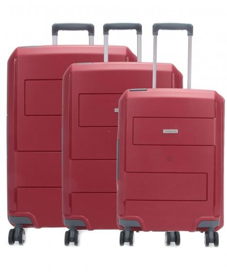 Travelite Makro Komplet 3 walizek czerwonych