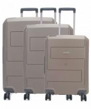 Travelite Makro Komplet 3 walizek brązowych