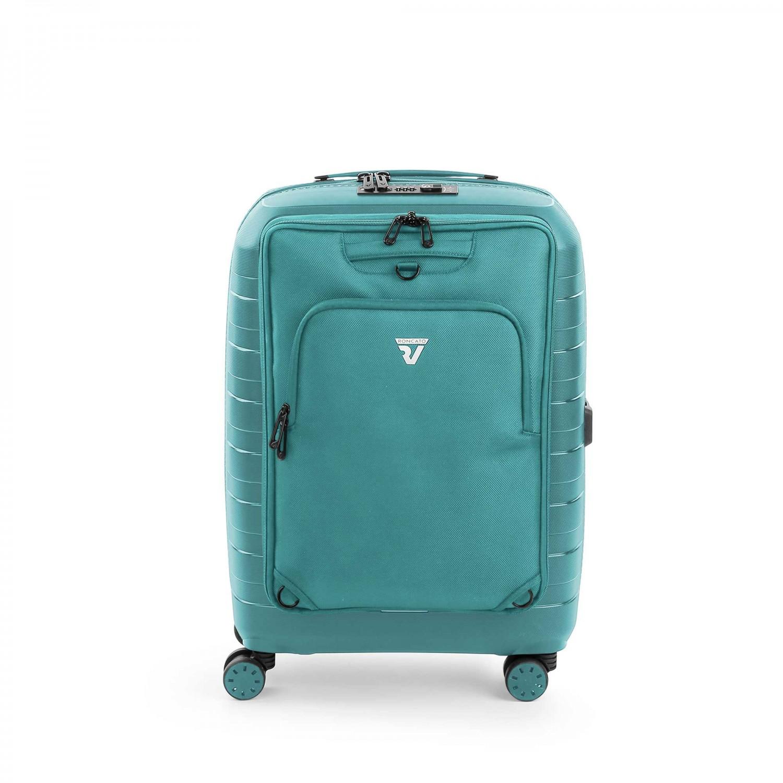 139bb2b7a69e5 ... Roncato D-Box Zestaw walizka mała i torba na laptopa szmaragdowa ...