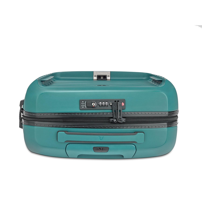 fbbac2b217c57 ... Roncato D-Box Zestaw walizka mała i torba na laptopa szmaragdowa ...